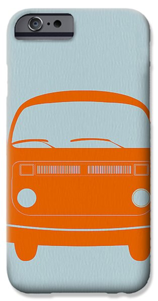 Modernism iPhone Cases - VW Bus Orange iPhone Case by Naxart Studio