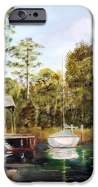 Waccamaw River Sloop iPhone Case by Phil Burton