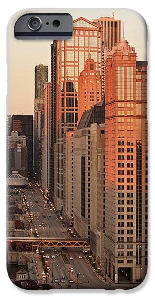 Sears Tower iPhone Cases - Wacker Drive Sunset Chicago iPhone Case by Steve Gadomski