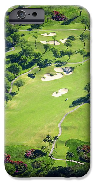 Green Lawns iPhone Cases - Wailea Gold and Emerald courses iPhone Case by Ron Dahlquist - Printscapes