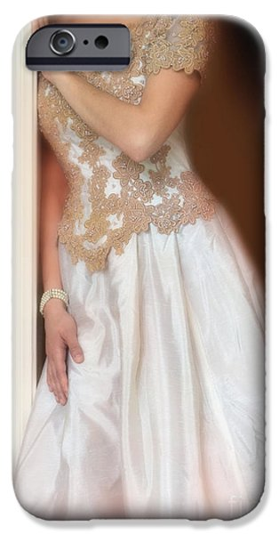 Ball Gown iPhone Cases - Waiting by the Door iPhone Case by Jill Battaglia