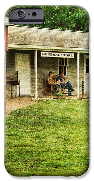 Waiting by the General Store iPhone Case by Paul Ward