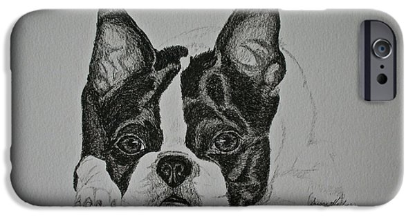 Dogs iPhone Cases - Waiting For More iPhone Case by Susan Herber