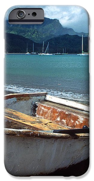 Waiting to Row in Hanalei Bay iPhone Case by Kathy Yates