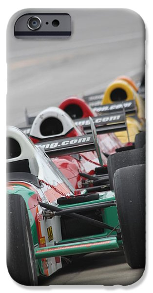 Indy Car iPhone Cases - Waiting to run iPhone Case by Lauri Novak