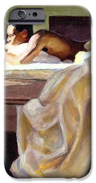 Contemplative iPhone Cases - Waking Up iPhone Case by Douglas Simonson