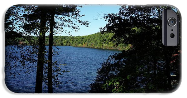 Concord iPhone Cases - Walden Pond End Of Summer iPhone Case by Lawrence Christopher