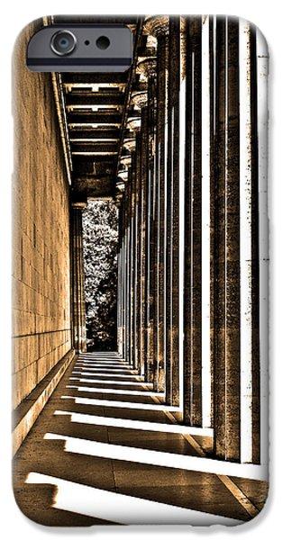 Bayern iPhone Cases - Walhalla Colonnade ... iPhone Case by Juergen Weiss