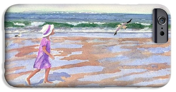 Cape Cod Paintings iPhone Cases - Walking The Cape iPhone Case by Laura Lee Zanghetti