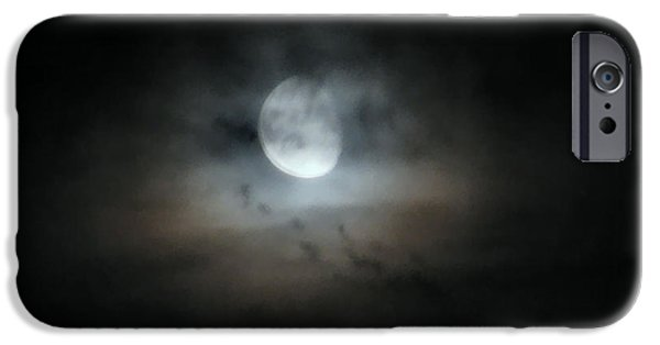 Mystifying iPhone Cases - Walking With The Moon iPhone Case by Rory Sagner