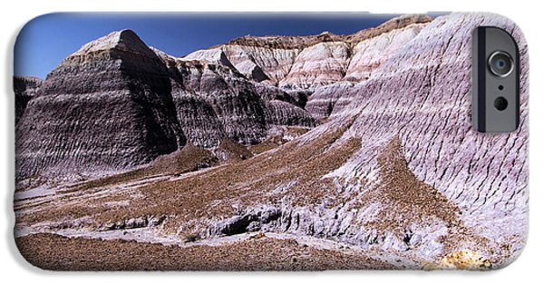 Petrified Forest Arizona iPhone Cases - Wall Of Purple iPhone Case by Adam Jewell