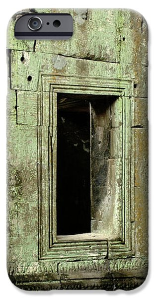 Wall Ta Prohm iPhone Case by Bob Christopher