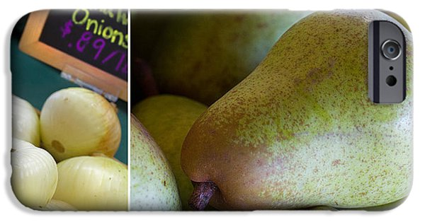 Pears iPhone Cases - Walla Walla Pear iPhone Case by Rebecca Cozart