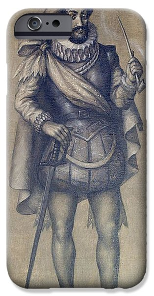 Walter Raleigh, English Explorer iPhone Case by Photo Researchers