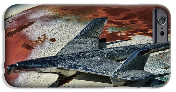 Rusted Cars iPhone Cases - War Bird iPhone Case by Douglas Pittman