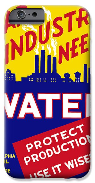 Political Mixed Media iPhone Cases - War Industry Needs Water iPhone Case by War Is Hell Store