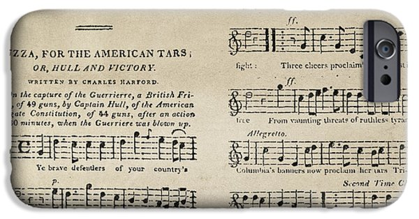 Constitution iPhone Cases - War Of 1812: Songbook iPhone Case by Granger