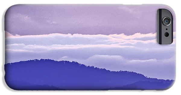 Cloudscape Photographs iPhone Cases - Warm and Cool in the Blueridge Mountains iPhone Case by Rob Travis
