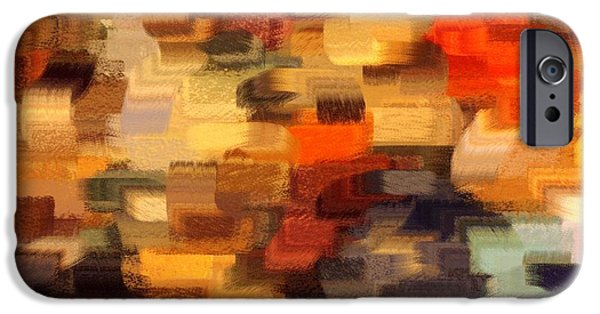 Abstracts From Nature iPhone Cases - Warm Colors Abstract iPhone Case by Carol Groenen