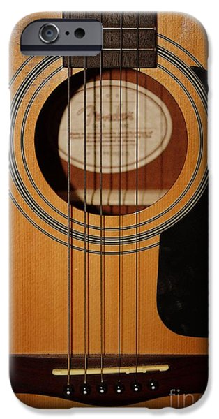 Guitar Strings iPhone Cases - Warm Nashville Welcome iPhone Case by Carol Groenen