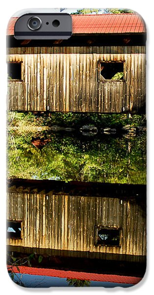 Warner Covered Bridge iPhone Case by Greg Fortier