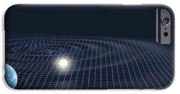 Skewed iPhone Cases - Warped Space iPhone Case by Mikkel Juul Jensen