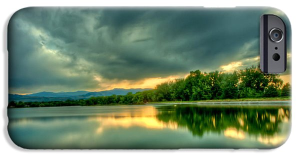 Fort Collins Photographs iPhone Cases - Warren Lake at Sunset iPhone Case by Anthony Doudt