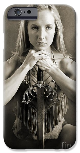 Warrior Woman iPhone Case by Cindy Singleton