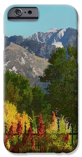 Wasatch Mountains In Autumn Painting iPhone Case by Tracie Kaska
