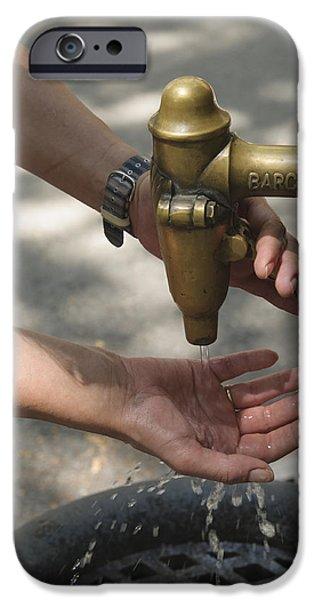 Washing hands iPhone Case by Matthias Hauser