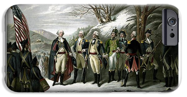 July 4th iPhone Cases - Washington and His Generals  iPhone Case by War Is Hell Store