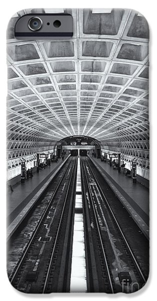 Brutalism iPhone Cases - Washington DC Metro Station II iPhone Case by Clarence Holmes