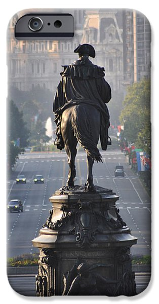Washington Looking down the parkway - Philadelphia iPhone Case by Bill Cannon