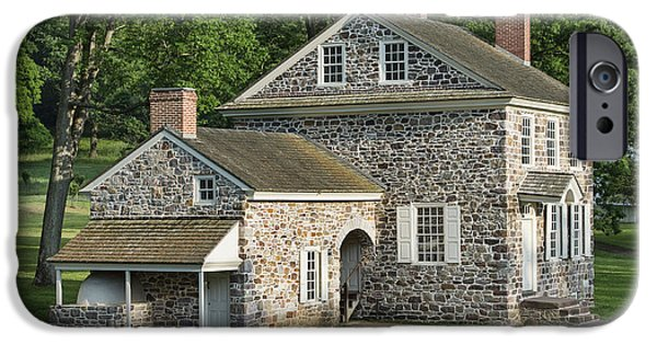 Fieldstone iPhone Cases - Washingtons Headquarters at Valley Forge iPhone Case by John Greim