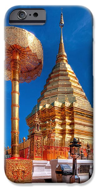 Buddhism iPhone Cases - Wat Phrathat Doi Suthep iPhone Case by Adrian Evans