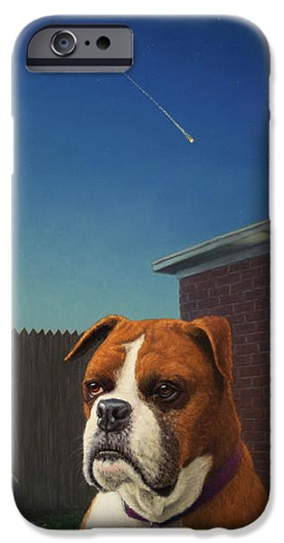 Boxer Dog iPhone Cases - Watchdog iPhone Case by James W Johnson