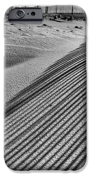 Watching Shadows BW iPhone Case by JC Findley