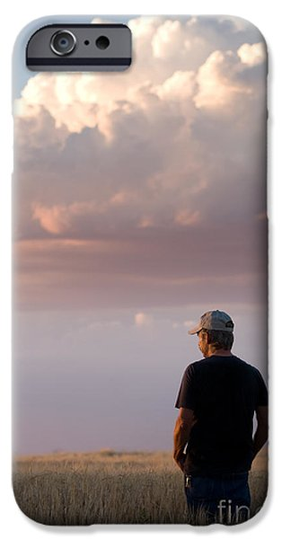 Watching the Grain Grow iPhone Case by Cindy Singleton