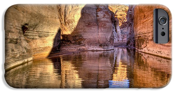 Lake Powell iPhone Cases - Water Canyon iPhone Case by Jon Berghoff