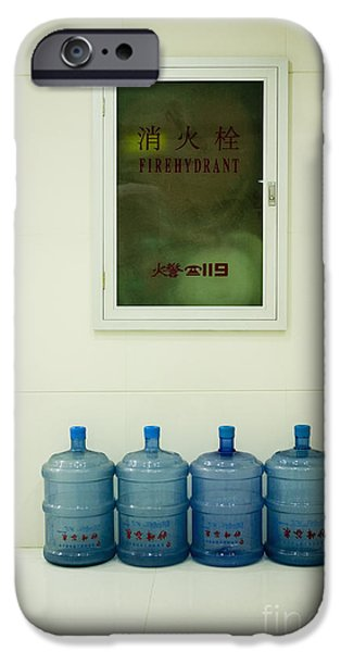 Water Cooler Bottles and Fire Hydrant Cabinet iPhone Case by Andersen Ross