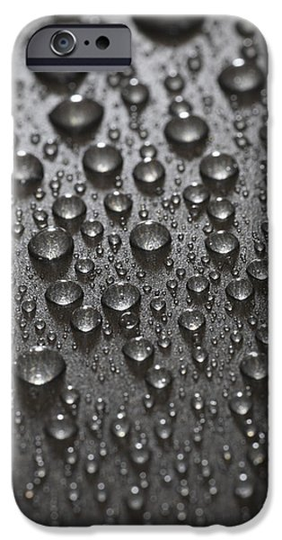 Rainy Day iPhone Cases - Water Drops iPhone Case by Frank Tschakert