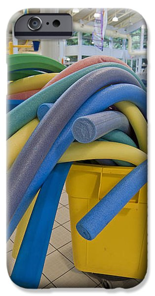 Water Noodles at a Public Swimming Pool iPhone Case by Marlene Ford