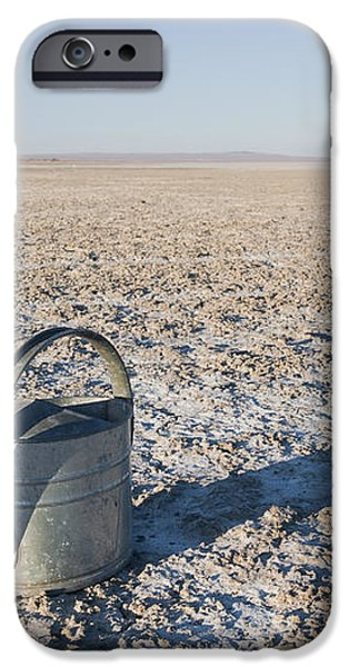 Water Pail on Dried Mud iPhone Case by Thom Gourley/Flatbread Images, LLC