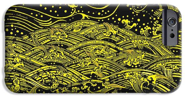 Buddhism iPhone Cases - Water Pattern iPhone Case by Setsiri Silapasuwanchai
