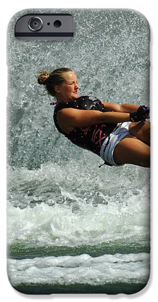 Water Skiing Magic Of Water 2 iPhone Case by Bob Christopher