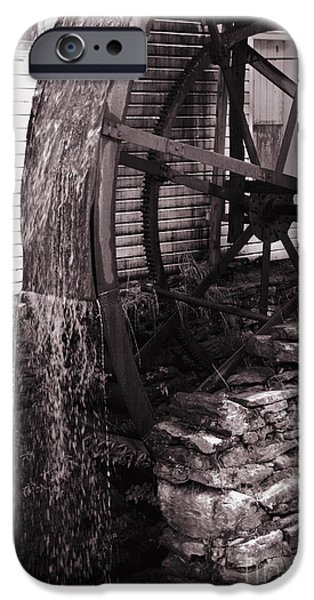 Water Wheel Old Mill Cherokee North Carolina  iPhone Case by Susanne Van Hulst