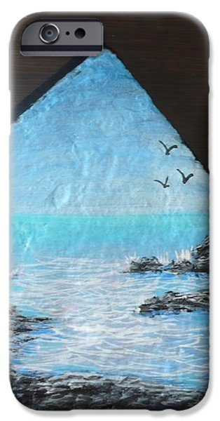Water With Rocks iPhone Case by Monika Dickson-Shepherdson
