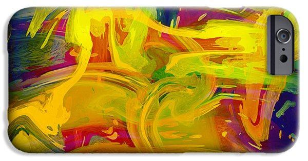 Oil Stain iPhone Cases - Watercolour Abstract iPhone Case by Svetlana Sewell