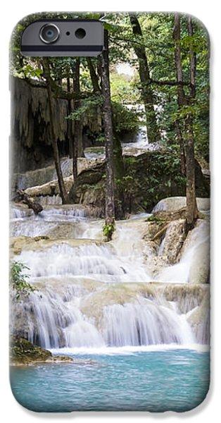 waterfall in deep forest iPhone Case by Setsiri Silapasuwanchai