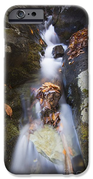 Water Flowing iPhone Cases - Waterfall in Shenandoah National Park iPhone Case by Dustin K Ryan